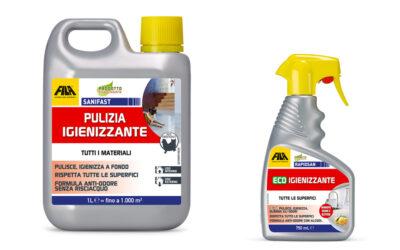 Sanifast e Rapid san pulizia igienizzante